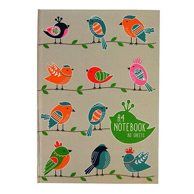 A4 Hard Cover Writing Notebook - Birds or Anchor Design - 160 Pages - Ruled
