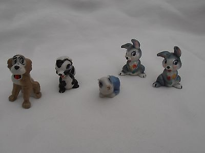 Wade Animals Job Lot - Rabbits, Flower the Skunk and Trustee the Dog