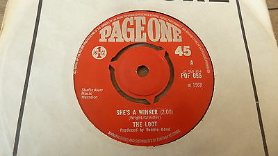 The Loot - She's a Winner 1968 UK 45 PAGE ONE MOD/FREAKBEAT/PSYCH