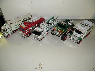 Vintage Hess Toy Truck Lot without Boxes