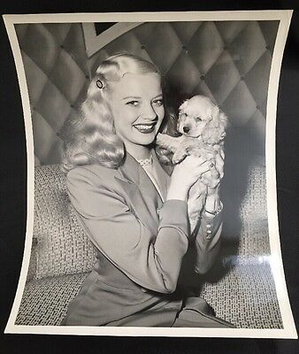 Two Blondes! Mary Hartline & Her Puppy Pal. Autographed To Buyer