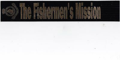 Leather Bookmark - The Fishermen's Mission.