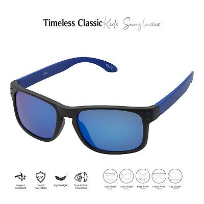 Black + Blue Kids Childrens Sunglasses UV400 Classic Shades Fashion Glasses UK