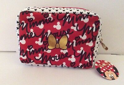 Disney Minnie Mouse Cosmetic Bag NWT