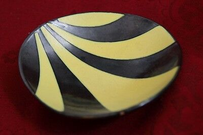 50´s Design Kidney Shaped  Fritz van Daalen pottery Schale