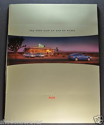 2000 Audi A4 40pg Catalog Sales Brochure Avant Excellent Original