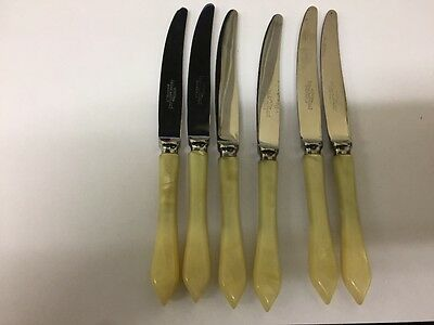 SIX KNIVES  mother of pearl handle by pinder brothers sheffield uk