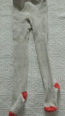 Mini boden, baby boden girls ribbed tights oatmeal 2T 3T