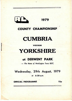 Cumbria v Yorkshire 1979 (29 Aug) County Championship @ Workington Town