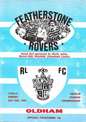 Featherstone Rovers v Oldham 1979/80