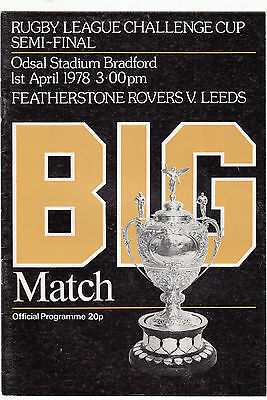 Featherstone Rovers v Leeds 1978 (1 Apr) Challenge Cup Semi-Final @ Bradford