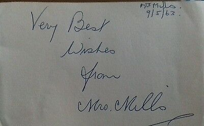 Mrs Mills Signed Page.  Music