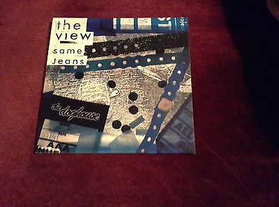 """THE VIEW Same Jeans 7"""" blue Vinyl single record Rare Near Mint Limited Edition"""