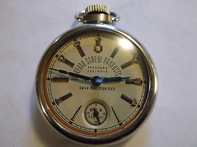 Vintage 1940 ADVERTISING Dollar Watch-ROCKFORD SCREW PRODUCTS barely used-NICE!