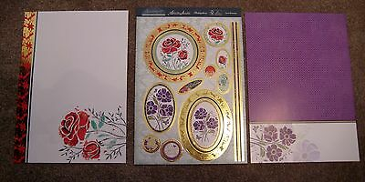 Brand New HUNKYDORY Botanique Deluxe Card Collection - Love Blossoms Topper Set