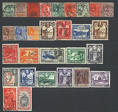 BRITISH GUIANA Collection of 29 Used 1850-1953 Era All Different