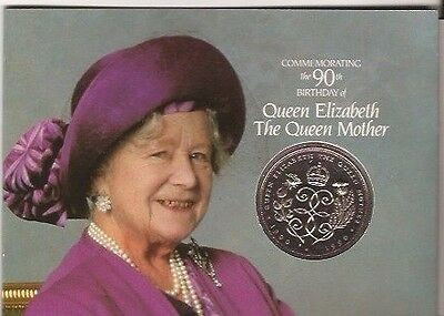GB Coin Crown 1990 Queen Mother 90th Birthday