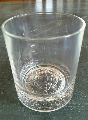 Crown Royal Rocks Lowball Glass Embossed Base Controlled Bubbles Italy VGC