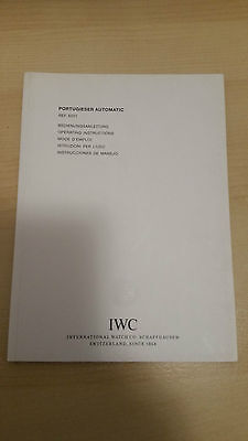 Iwc Portuguese Automatic Ref. 5001  Operating Instruction Booklet In Mint Condit