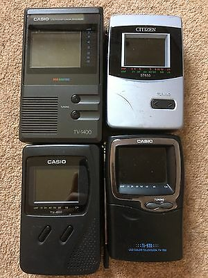 Casio Citizen Portable Television Joblot (x8 Units) Working Used Free P&P