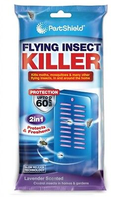 60 Day FLYING INSECT KILLER PORTABLE INDOOR OUTDOOR , Fly Moth and Mosquito