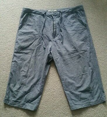 Men's Topman Moto 3/4 Length Shorts/Trousers, Size M