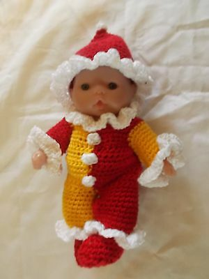fits 5 inch itty baby clown outfit