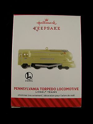 LIONEL TRAINS Pennsylvania Torpedo Repaint Gold Locomotive Hallmark Ornament NEW