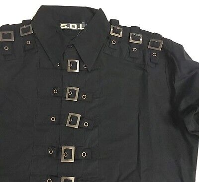 Steampunk SDL Copper Buckle Long Sleeves Shirt Chest Size 46 Inches