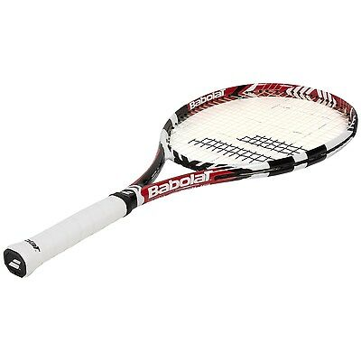 Babolat Drive 100 sq.in Tennis Racquet  4 1/2 Strung w Babolat Exel + case