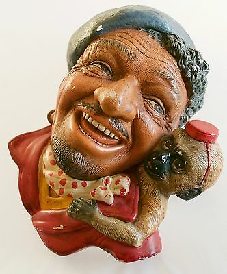 Vintage Romany & Monkey Chalk ware Legends Bossons Wall Plaque 1950's