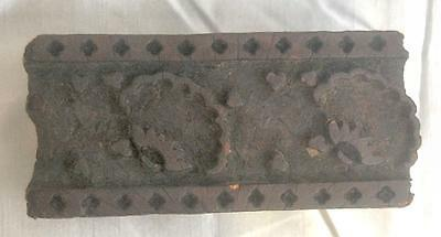 Antique Wood Block Hand Carved for Printing Textile/Fabric/Wallpaper Border