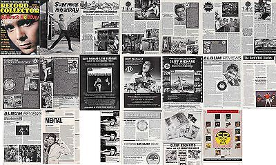 CLIFF RICHARD : CUTTINGS COLLECTION -adverts etc-