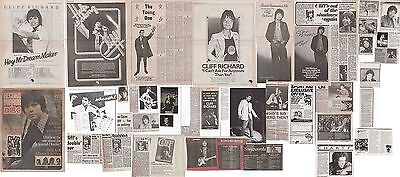 CLIFF RICHARD : CUTTINGS COLLECTION -70s/80s- adverts interview etc.