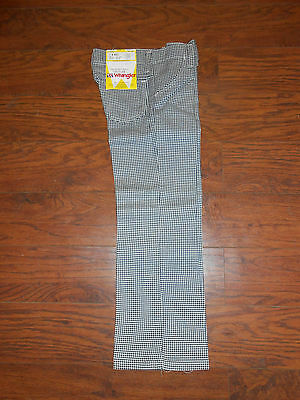 Childrens 70s Vintage Wrangler Houndstooth Pattern Boys/Girls Size 11 Reg Pants