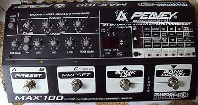 Peavey Max 100 Transtube Analog Preamp 24-Bit Digital Stereo Effects Processor