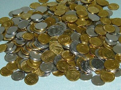 500 Non-Magnetic Brass Pachislo Skill Slot Machine Tokens Coins