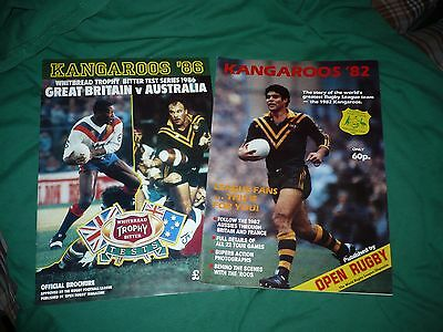 Australian Rugby League - Touring magazines 1982 + 1986