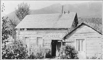 A Photo of mail Post office Tavern Log building in Roadhouse, Sunrise, AK,U.S.A