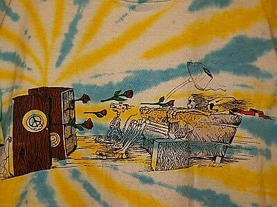 Rare! Vtg '90 GRATEFUL DEAD T-SHIRT,IS IT LIVE OR DEAD?, TRIBAL INK,  Sz L-XL