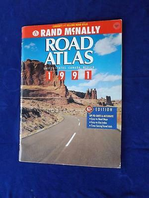 1991 Road Atlas Rand Mcnally United States Canada Mexico