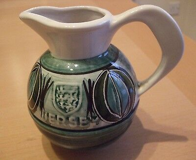 Attractive Retro Jersey Pottery Hand Painted Jug in very good condition.
