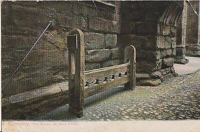 Vintage Postcard The Stocks St Marys Hall Coventry c1890 Posted 1906