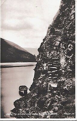 Vintage Postcard Path to St. Kevins Bed, Glendalough Co. Wicklow. RP Valentine's