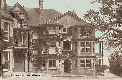 Vintage Postcard The Bath Hotel Felixstowe Posted 1905 Fire Destroyed 1914