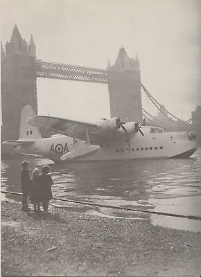 Postcard Seaplanes:Series 1  RAF Short S25 Sunderland MK V 1954 Tower Bridge