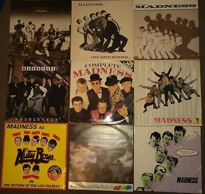 """Madness 6 Albums & 3 12"""" Singles One Step Beyond Absolutely 7 Complete Utter"""