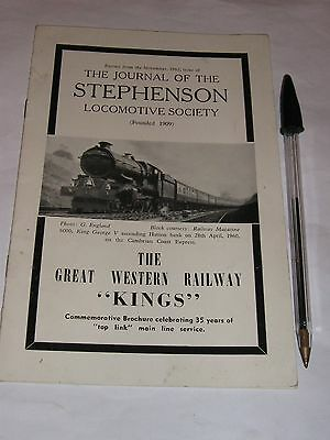"The Great Western Railway ""Kings"". SLS Commemorative brochure."
