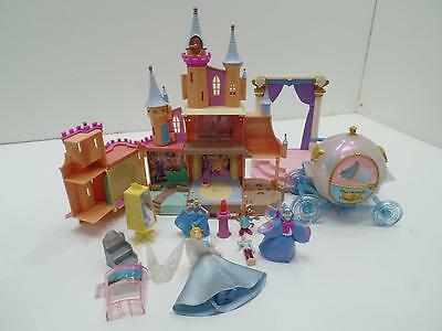Disney Cinderella Play Castle Toys Figures Mix Lot Carriage Godmother Mouse