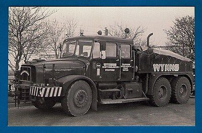 "Postcard - Wynns Scammell Contractor ""Dreadnought"" XFA217X - MB Transport Photos"